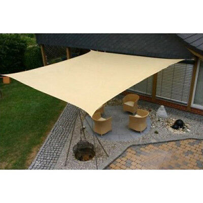 SUN SAIL SHADE- SQUARE CANOPY COVER-OUTDOOR PATIO AWNING-11.5' SIDES (11.5x11.5)