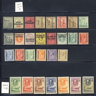 Bechuanaland 1889-1932 mlh except for the later stamps which are mnh    160.00