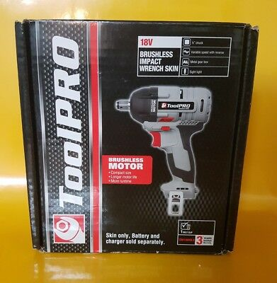 ToolPro 18v Brushless Impact Wrench Skin Only