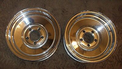 Mopar Ford Pontiac Chevy Vintage Solid Chrome Wheels