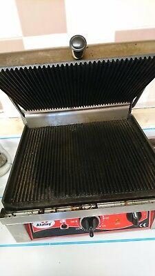 Large Panini Press Toaster Electric Sandwich Maker Commercial Machine Grill