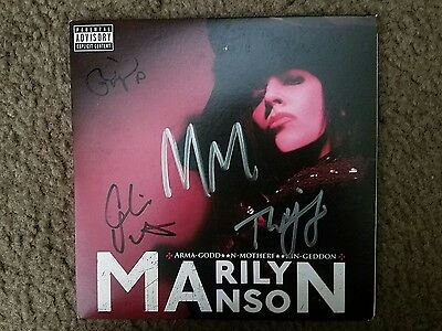 """Signed WHOLE BAND! TWIGGY!!! Marilyn Manson """"High End Of Low"""" VINYL! FREE SHIP!!"""
