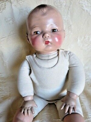 Early Madame Alexander Composition Baby Doll w Cloth Body - 18""