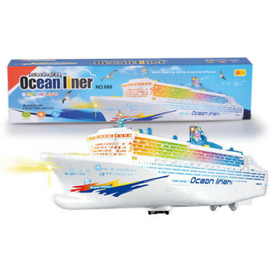 Electronic Ocean Liner Simulation Flashing Light Up Whistle Battery Operation