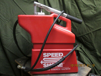 Speed Shore HPV-2000 Hydraulic Shoring Box Pump Trench Nice Shape Works