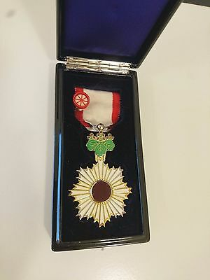 Japanese Order of the Rising Sun 5th Medal Japan WWII excellent condition