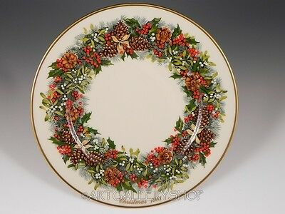 1981 Lenox Holiday Annual Limited Ed. COLONIAL CHRISTMAS WREATH VIRGINIA Plate