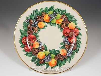 1988 Lenox Holiday Annual Limited COLONIAL CHRISTMAS WREATH DELAWARE Plate