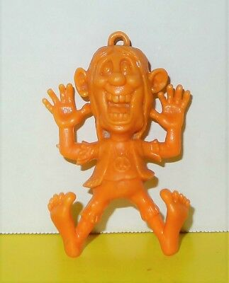 "Vintage Hippie Hard Plastic 3"" Key chain Figure  premium cereal Prize toy"
