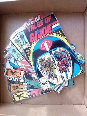 GI Joe Real American Hero 7 issue Comic Lot, Marvel, Yearbook, Special Missions