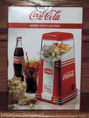 Nos Nostalgia Products Coca-Cola Hot Air Popcorn Popper Maker
