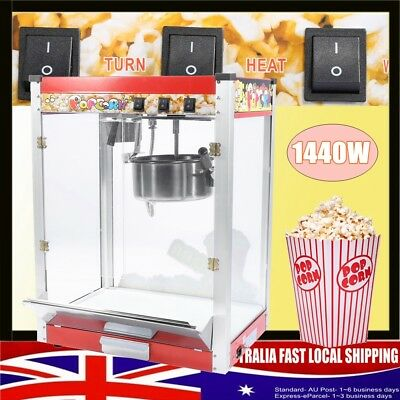 8OZ Commercial Electric Popcorn Maker Machine Automatic Corn Popper AU Seller