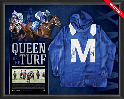 Winx Queen Of The Turf Signed & Framed Limited Edition Mid Silks - Lay By Now