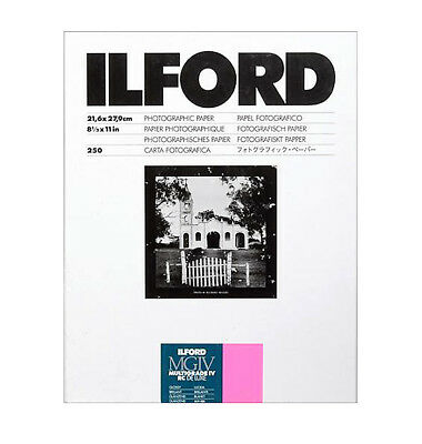 """Ilford 8.5 x 11"""" Multigrade IV RC Deluxe B&W Paper, Glossy Surface, 250 Sheets"""