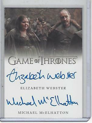 Game of Thrones Valyrian Steel Webster / McElhatton Dual autograph