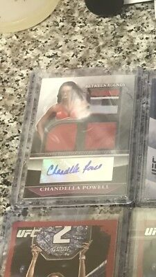 Chandella Powell Topps Between The Rounds auto Relic /25, Ufc