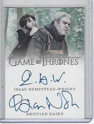 Game of Thrones Valyrian Steel Hempstead-Wright / Nairn Dual autograph #1