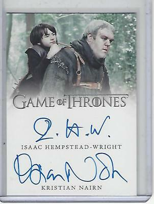 Game of Thrones Valyrian Steel Hempstead-Wright / Nairn Dual autograph #2