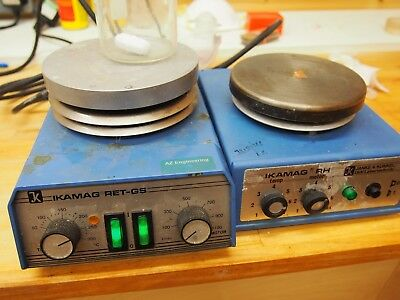 Lot Of Two Ikamag Laboratory Hotplates With Magnetic Stirrer