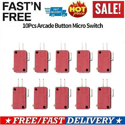 10pcs/lot of Replacement 3 Terminals Micro-switch for Arcade Game Push Button IS