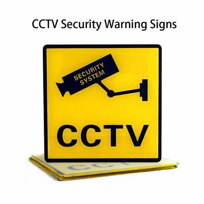 10pcs Useful Security System Monitor Decals CCTV Camera Stickers Warning Sign