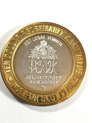 Collector's Series Trump Plaza $10 Redeemable .999 Pure Silver Token