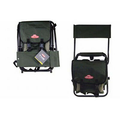 Berkley TMS Fishing Folding Chair with Back Rest + Tackle Storage PF1061745