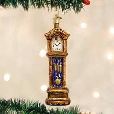*Grandfather Clock* [32034] Old World Christmas Glass Ornament - NEW