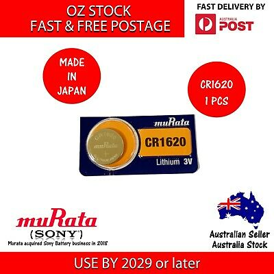 1x SONY CR1620 3v lithium Battery button cell/coin for watches remote- FAST POST