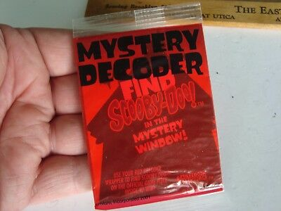 2001 Mars Candy Instant Win 'find Scooby Doo' Mystery Decoder/cartoon Network