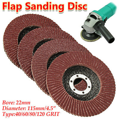 "4.5 ""in 115mm Flap Wheels Grinding Sanding Discs 40 60 80 120 Grit Angle Grinder"