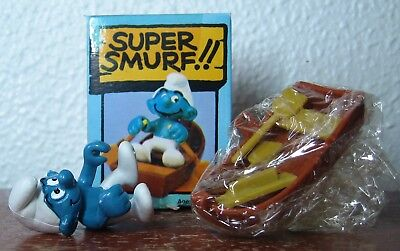Smurfs -  Rowboat Smurf With Box!