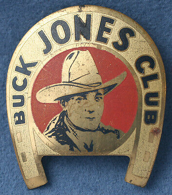 1925 Buck Jones Club Pin Movie Stuntman Cowboy Radio Actor