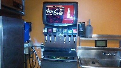 """Coca Cola 6 Head Fountain Drink Dispenser This unit is """"like new""""."""
