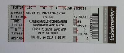 Nine Inch Nails & Soundgarden Ticket Stub, 7/24/14 Chicago, Official, Excellent