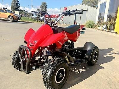 49Cc Mini Quad Bike Atv Buggy Kids 4 Wheeler Pocket Pit Dirt Bike Red