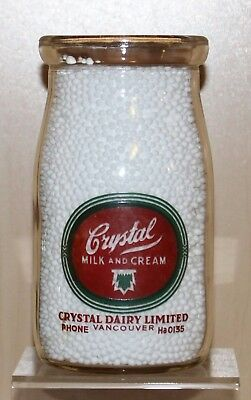 Crystal Dairy - Pint Sized Sour / Salad Cream Bottle - Vancouver, B.c.