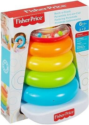 Fisher-Price FHC92 Rock-A-Stack Bat-at Rocker Tase Toy for Grasping and Stacking