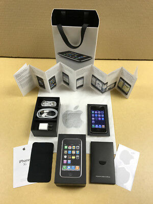 RARE OPPORTUNITY SET -- iPhone 8GB + Box + Apple Store Launch Day Bag +More READ