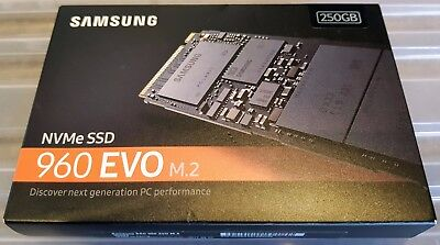 Samsung 960 EVO 250GB M.2 NVMe PCIe3.0 X4 Internal Solid State Drive SSD
