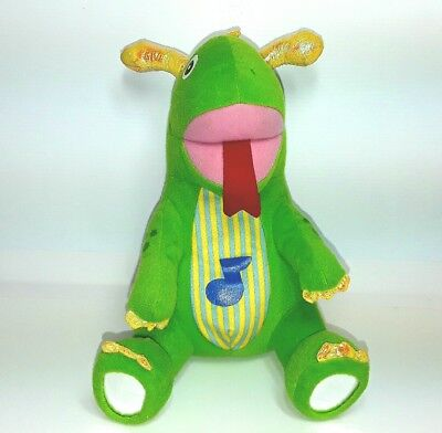 Baby Einstein plush dragon dinosaur soft toy doll Musical music Green