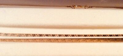 Matching 9 Ct Gold Necklace And Bracelet