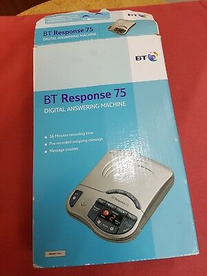BT Response 75 Digital Answering Machine In Box Complete With Instructions