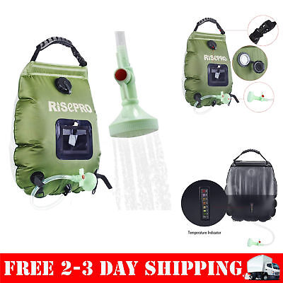 Solar Shower Bag Travel Camping Portable Outdoor Water PVC Risepro 5 Gallon
