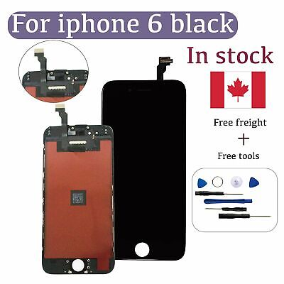 for iPhone 6 Replacement LCD Screen and Digitizer with Tools Black High Quality