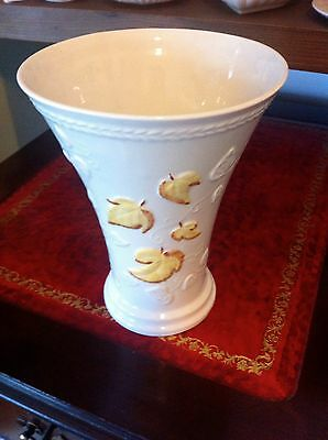 Belleek Leaf Design Vase