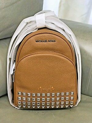 e8ca43017542 Michael Kors Abbey Extra Small Studded Backpack Xs Crossbody Leather Acorn