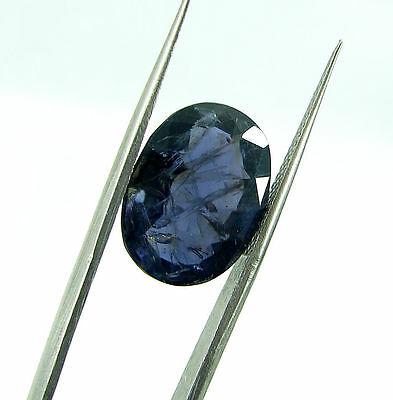 6.50 Ct Certified Natural Blue Iolite / Neeli Oval Loose Gemstone - 108662