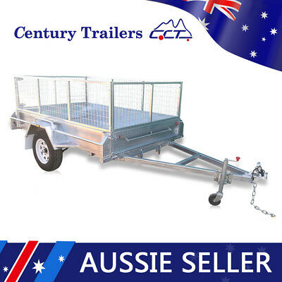 6×4 Standard Box Trailer ATM 750KG Brand New Galvanised With Cage Fully Welded