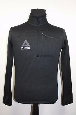 Patagonia Hotham Resort Mens Polyester Half Zip Black Jumper Size Small
